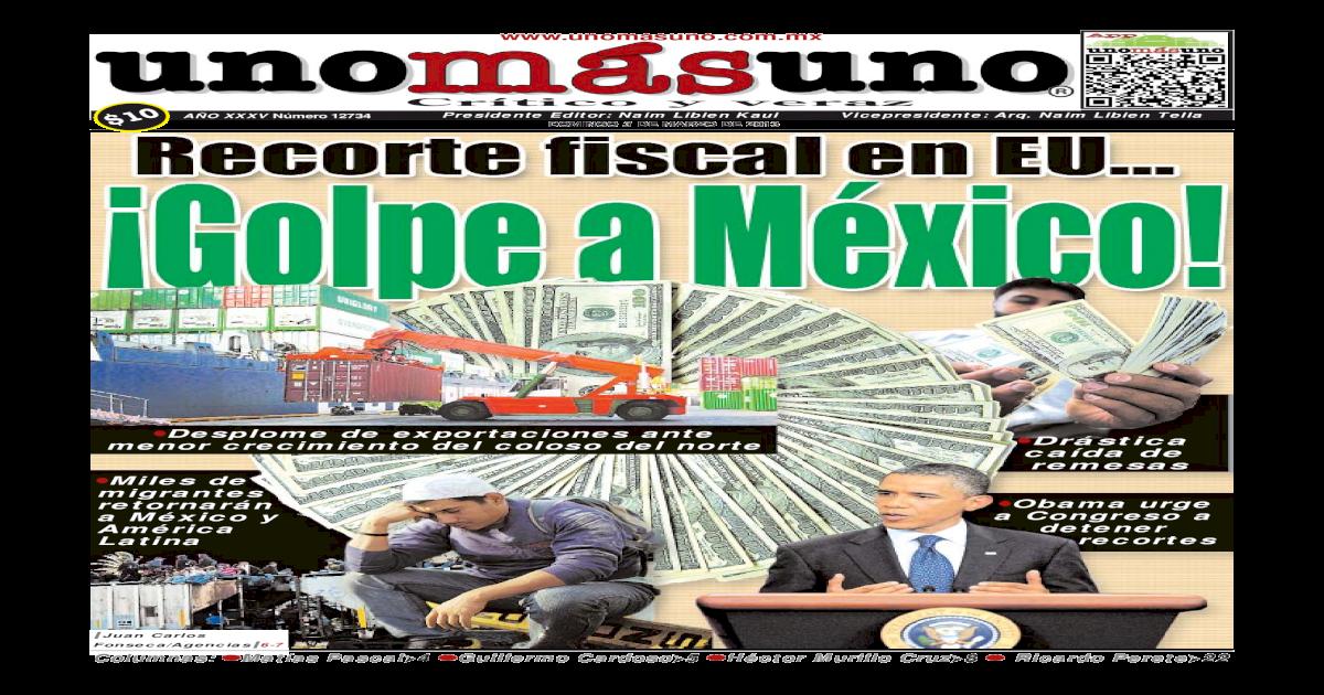 3 Marzo 2013 Recorte Fiscal En Eu Golpe A Mexico