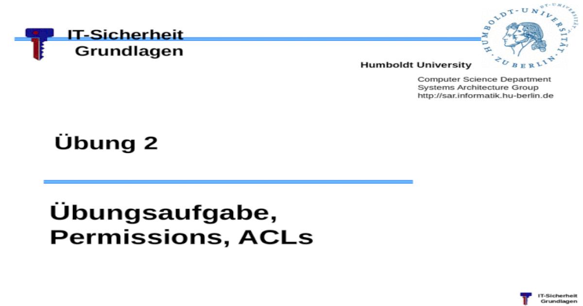 Informatik Hu Berlin