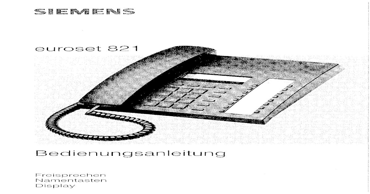 Siemens Euroset 821