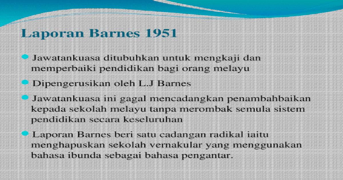 Laporan Barnes 1951
