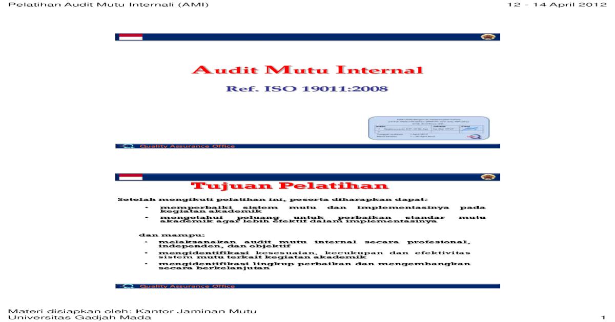Materi Audit Iso 9001