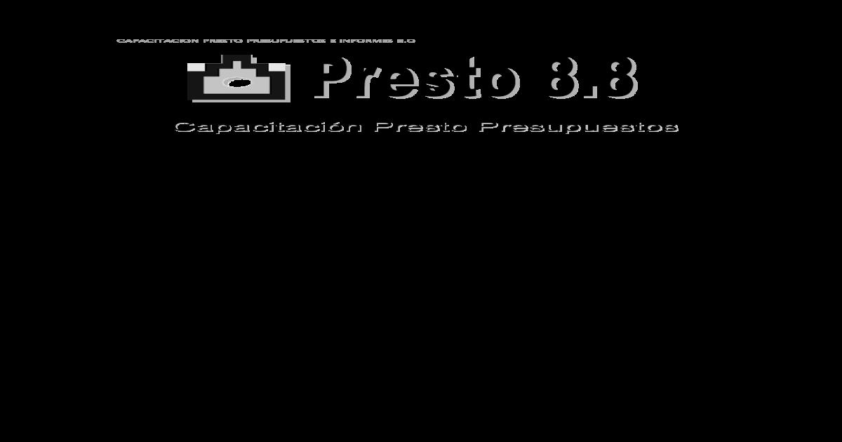 Manual presto 8.8 en español