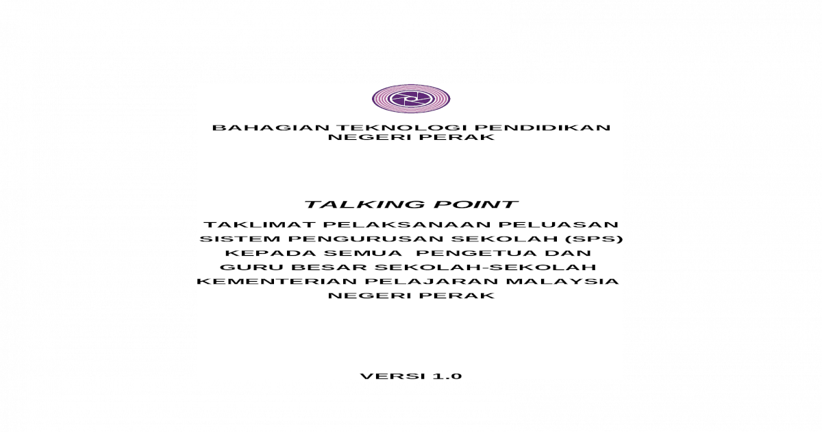 Talking Point V1