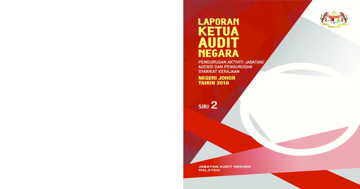 Laporan Ketua Audit Aktiviti Johor Pdf Jabatan Audit Negara Malaysia No 15 Aras 1 5 Persiaran