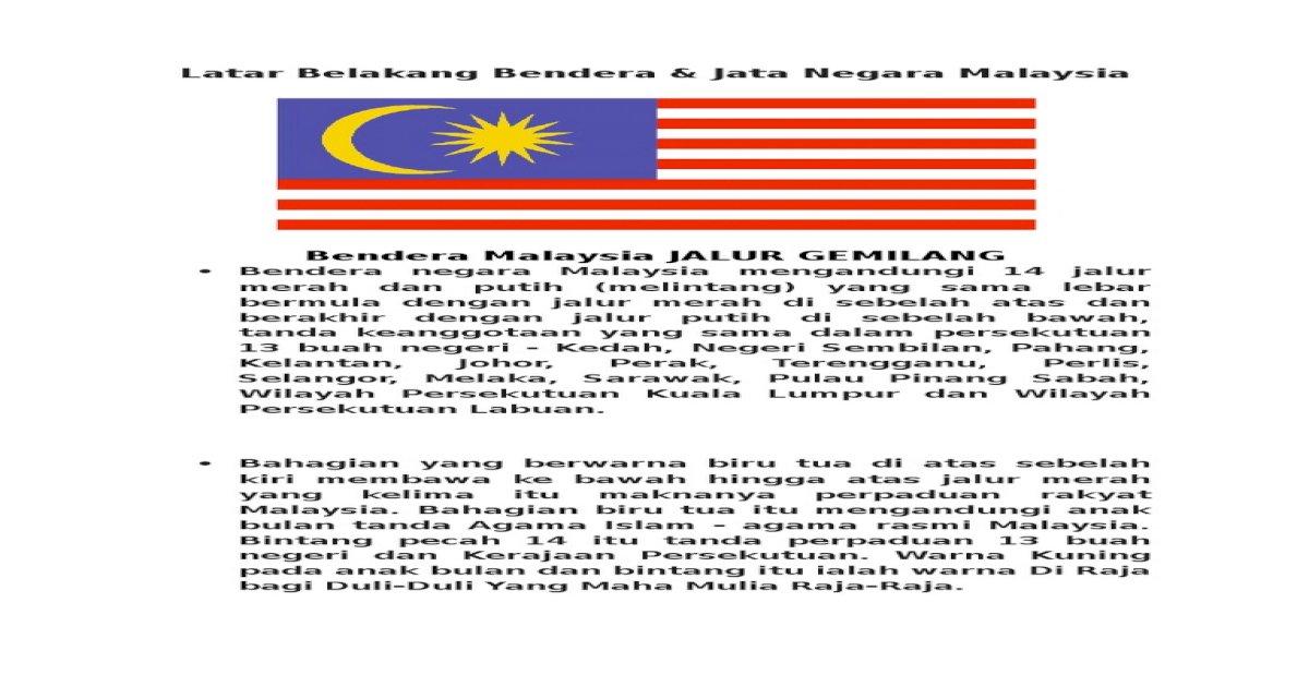 Bendera N Jata Negeri Doc