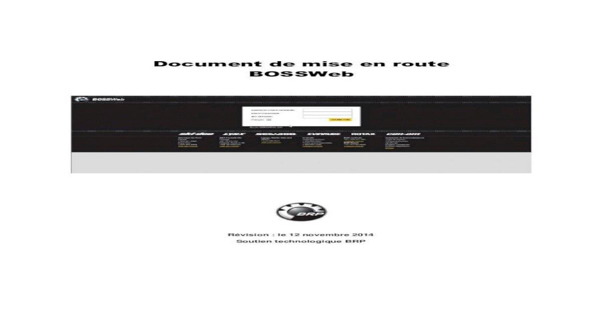 Mise En Route Bossweb 6 0 Fr Final Sont Les Documents Autorises Selon Le Profil De L Employe The new discount codes are constantly updated on. pdfslide tips