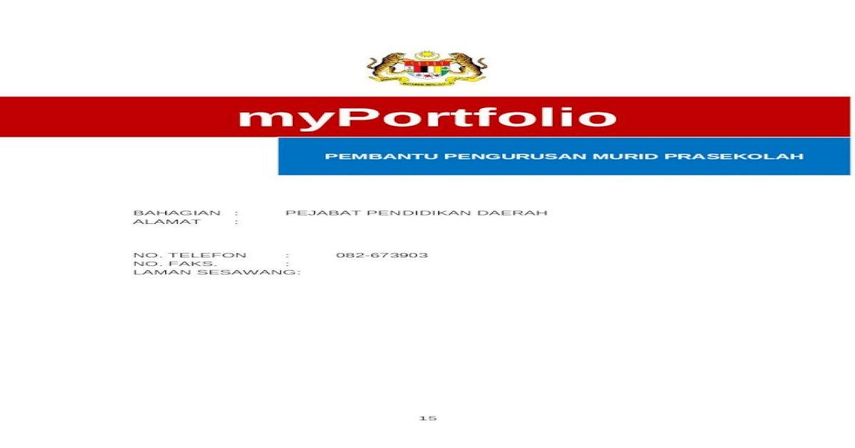 Web Viewcatatan Ketua Jabatan Hendaklah Memastikan Bahawa Myportfolio Dikaji Semula Dan Dikemas