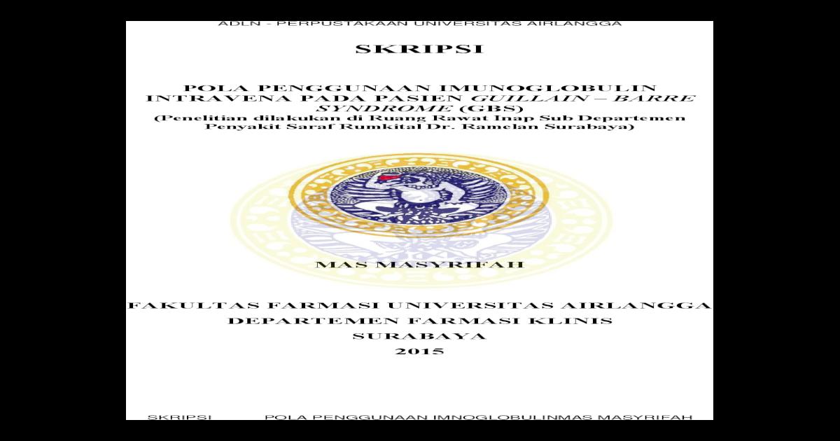 Skripsi Unair Repository Universitas Airlangga Kk Ff Fk 61 15 Mas P Cover Pdf Demikian Pernyataan