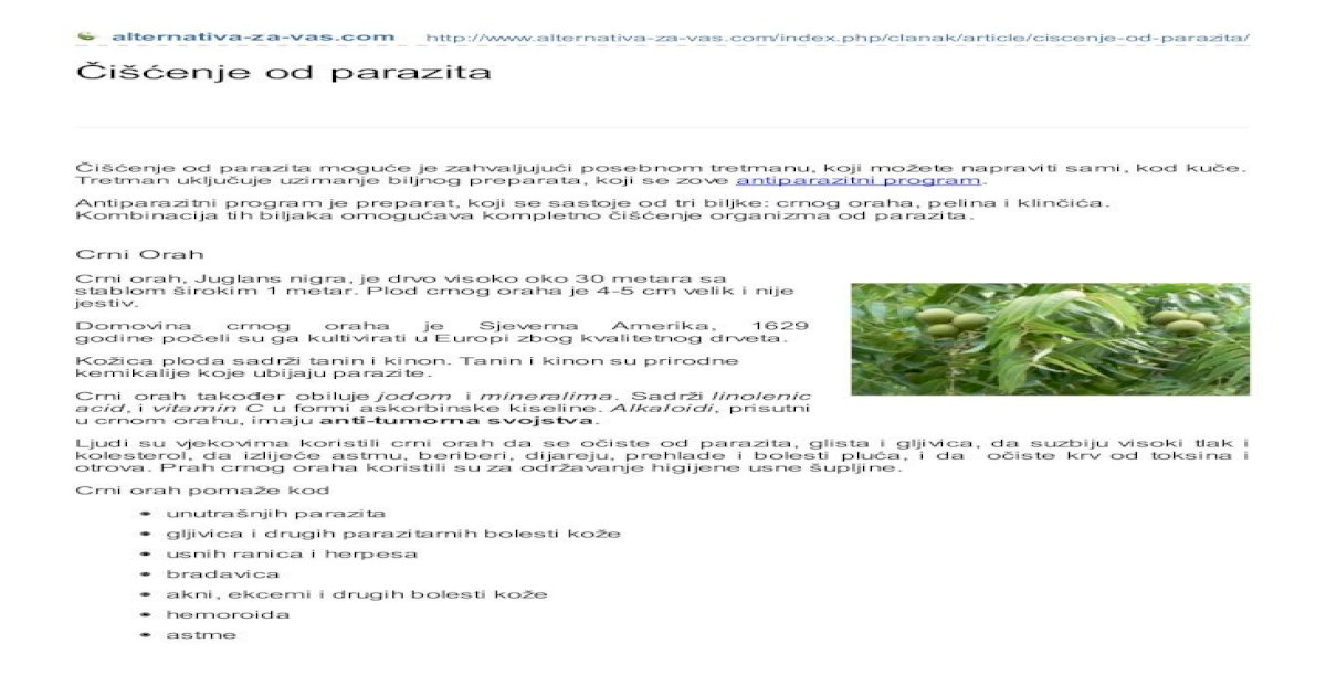 Parazita gyógyító program