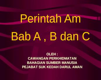 Perintah Am A B C